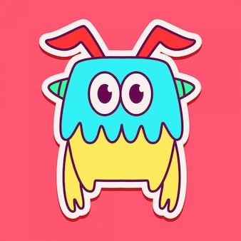 Cute monster character design