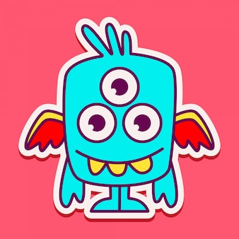 Cute monster character design