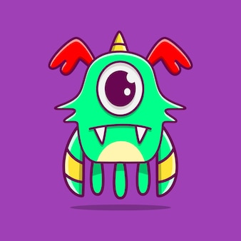 귀여운 괴물 캐릭터 낙서 그림