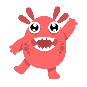 Cute monster character illustration design template