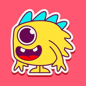 Cute monster character  illustration