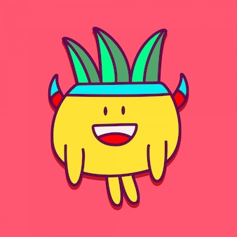 Cute monster character  templates