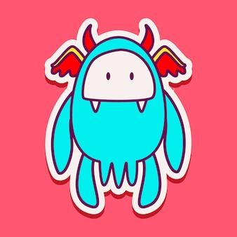 かわいいモンスターキャラクター