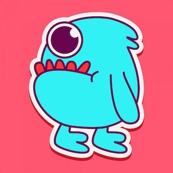 Симпатичный персонаж-монстр