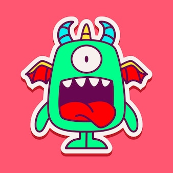 Cute monster character