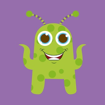 Cute monster design, vector illustration eps10 graphic