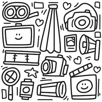 Cute monster doodle sticker design
