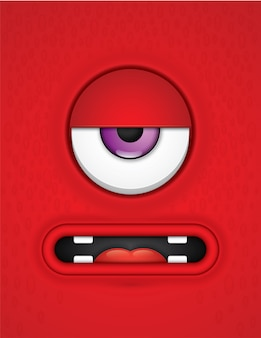 Cute monster face.