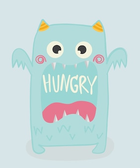 Cute monster. kid. t-shirt, card. vector illustration.