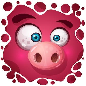 かわいいモンスター豚キャラクター