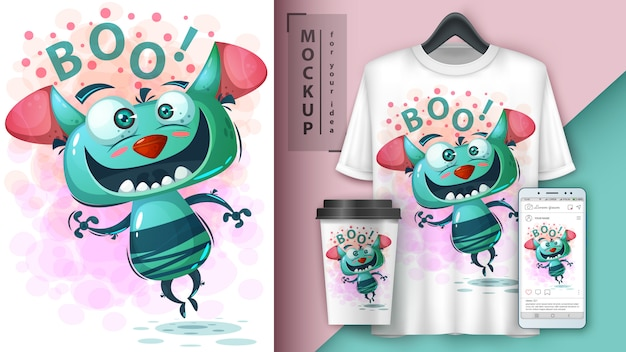 Cute monster poster and merchandising