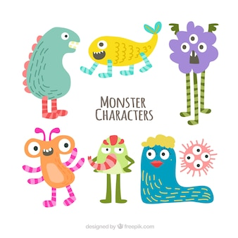 Cute monster set of six