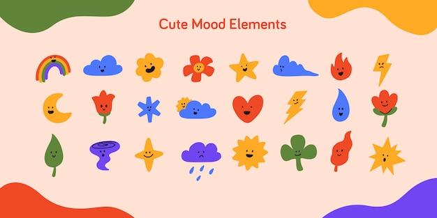 Cute mood elements
