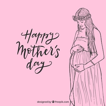 Cute mother day background