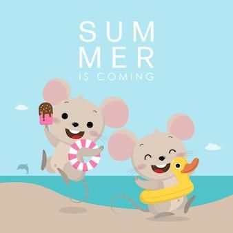 Милая мышка и летние каникулы