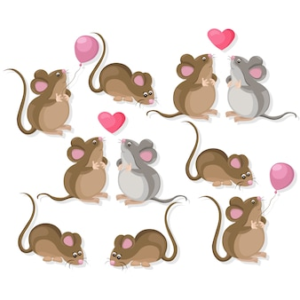Cute mouse collection