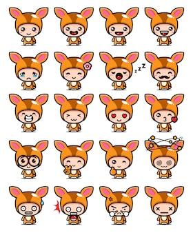 The cute mouse deer mascot design