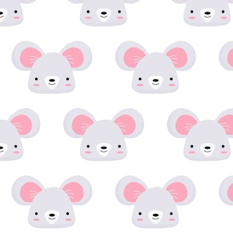 Cute mouse face pattern