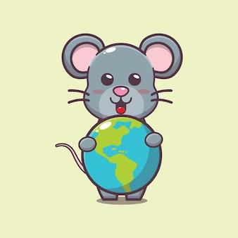 세계 동물의 날 행사에서 귀여운 마우스