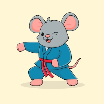 Cute mouse martial