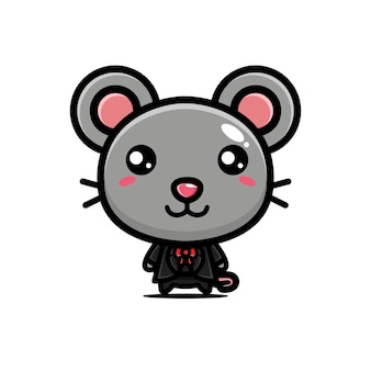 Cute mouse posing cool style