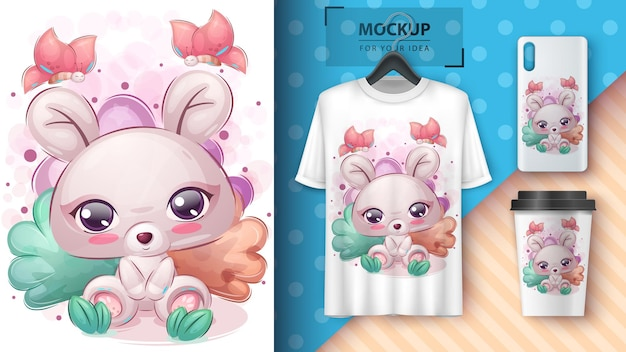 Cute mouse poster and merchandising