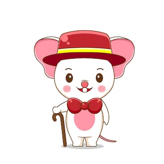 A cute mouse wears formal suit