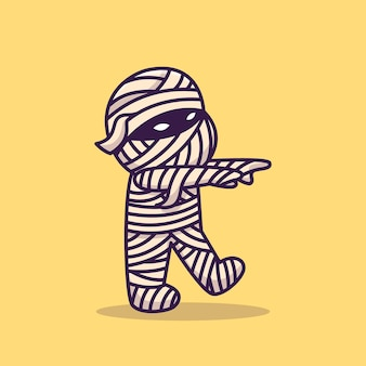Mummia carina che cammina