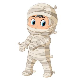 Cute mummy walking
