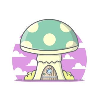 Cute mushroom house