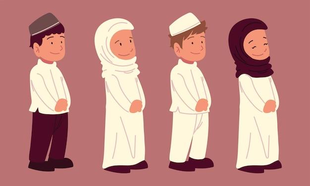 Симпатичная мусульманская детская арабская одежда