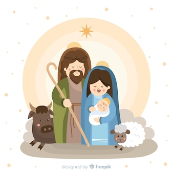 Cute nativity portrait