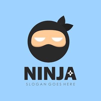 Симпатичный дизайн персонажа ниндзя