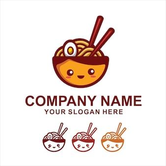 かわいい麺のロゴ
