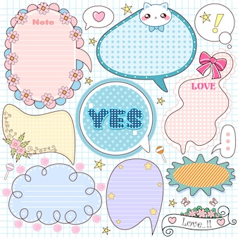 Cute note paper set