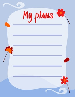 Симпатичная бумага для заметок написать заметку и написать план для напоминания векторный дизайн, подходящий для разных целей