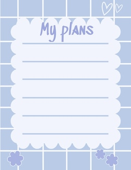 Cute note paper write memo and write plan for reminder vector design suitable for multiple purpose
