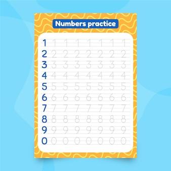 Cute number tracing worksheet