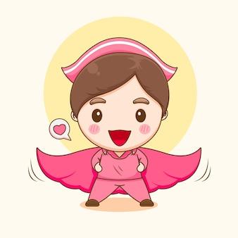 슈퍼 영웅으로 귀여운 간호사 캐릭터