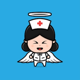 Cute nurse character illustration