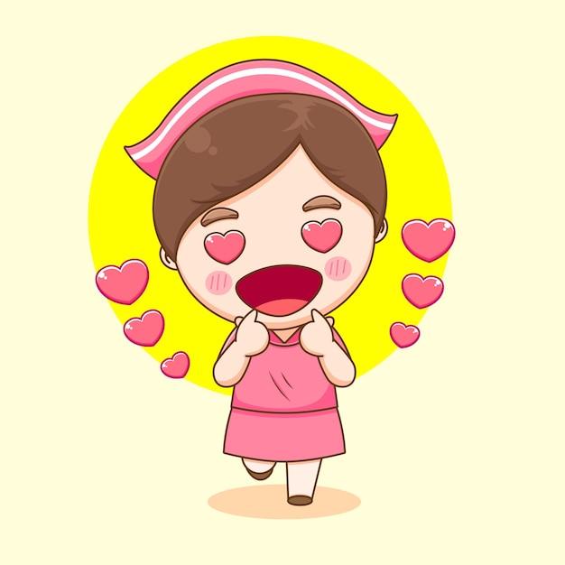 라이브 손가락 만화 포즈 귀여운 간호사