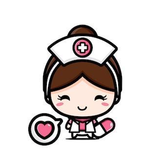 Милая медсестра с капсулами медицины