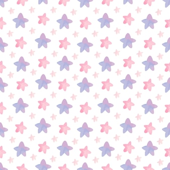Cute nursery room pattern with stars