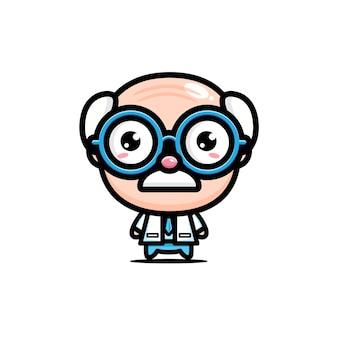 귀여운 늙은 의사 캐릭터 디자인