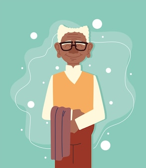 Cute old man with scarf