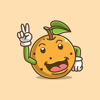 Cute orange cartoon