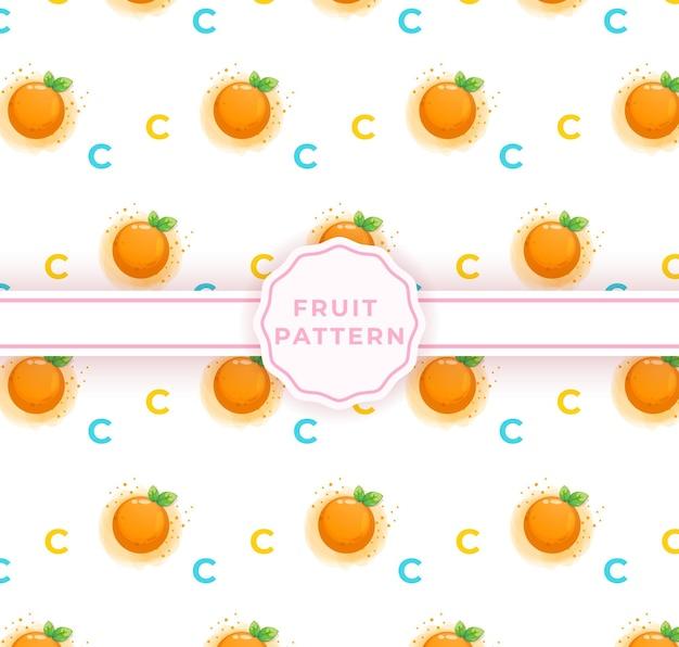 かわいいオレンジのシームレスパターン。かわいい果物のパターン