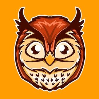 Симпатичные сова векторная иллюстрация дизайн