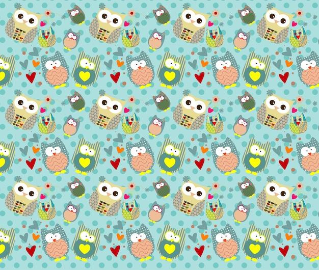 Cute owls pattern.