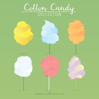 Cute pack of cotton candies